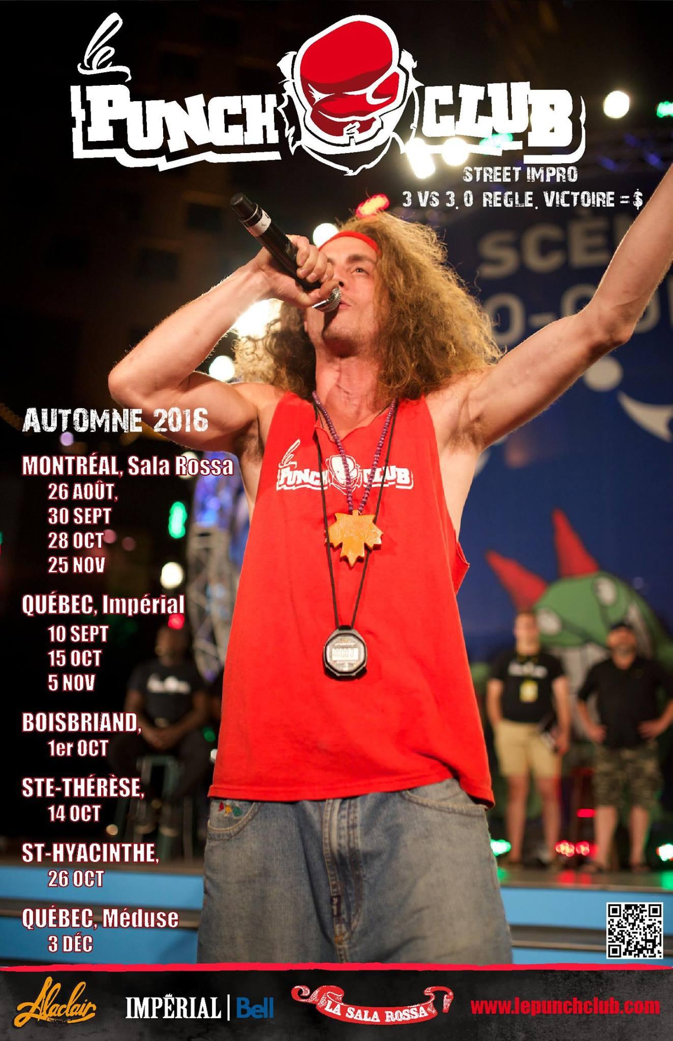 punch club affiche automne 2016